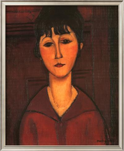 Portrait of Young Woman, c.1916-Amedeo Modigliani-Framed Textured Art
