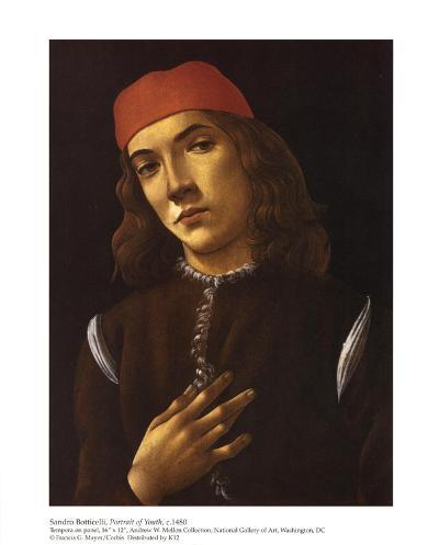Portrait of Youth-Sandro Botticelli-Art Print