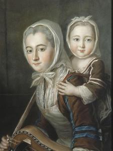 Portrait présumé de madame de Bourgogne et sa fille