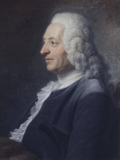 Portrait présumé du Président Herraut-Maurice Quentin de La Tour-Giclee Print