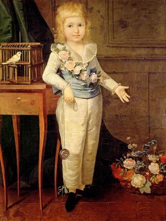 Portrait Presumed To Be Louis XVII Playing With A Yo Yo