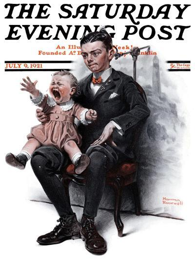 """""""Portrait"""" Saturday Evening Post Cover, July 9,1921-Norman Rockwell-Giclee Print"""