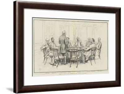 Portrait-Sketch of the Members of the European Conference-Frank Dadd-Framed Giclee Print
