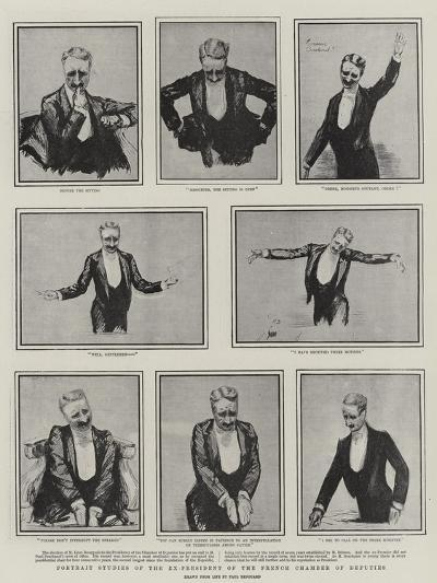 Portrait Studies of the Ex-President of the French Chamber of Deputies-Charles Paul Renouard-Giclee Print