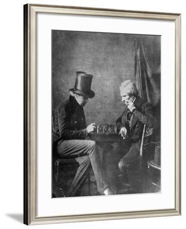 Portrait Study of Chess Players, to Show How Negatives Can Be Used to Make Any Number of Positives-Bernard Hoffman-Framed Photographic Print