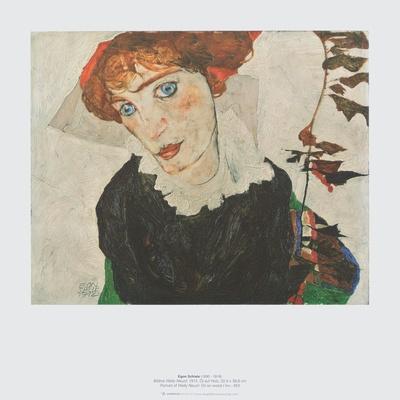 Egon Schiele Boy looking forward Vintage Fine Art Print