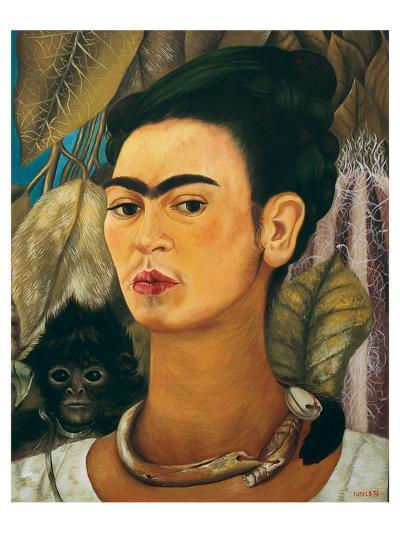 Portrait with Monkey1938-Frida Kahlo-Art Print