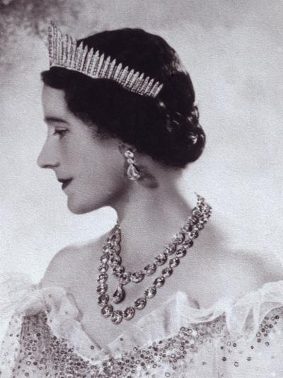Portrait with Tiara of Her Majesty Queen Elizabeth, the Queen Mother-Cecil Beaton-Photographic Print