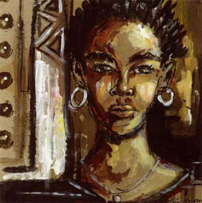 Portrait-Melain N'zindou-Art Print