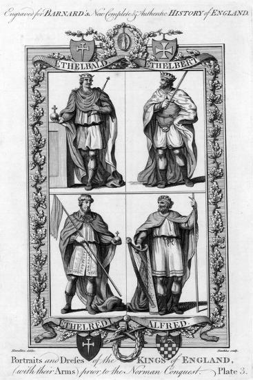 Portraits and Dresses of the Kings of England..., C1783-Hawkins-Giclee Print