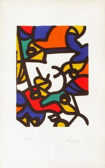 Portraits II : l'oiseleur-Charles Lapicque-Limited Edition