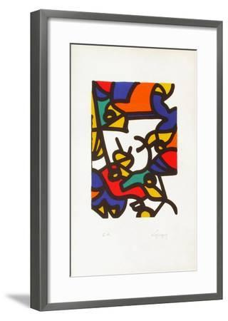 Portraits II : l'oiseleur-Charles Lapicque-Framed Limited Edition