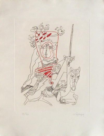 Portraits III : La chevauchée-Charles Lapicque-Limited Edition