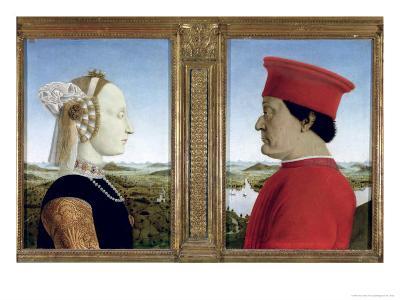 Portraits of Duke Federico Da Montefeltro-Piero della Francesca-Giclee Print
