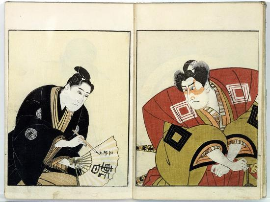 Portraits of Two Actors, 1803- Toyokuni-Giclee Print