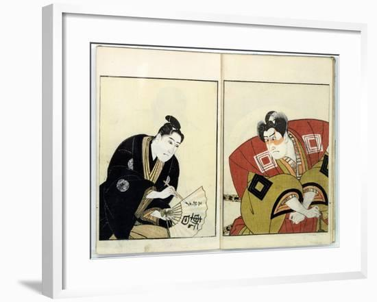 Portraits of Two Actors, 1803-Toyokuni-Framed Giclee Print