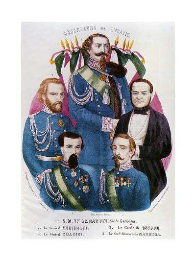 Portraits of Victor Emmanuel II of Savoy--Giclee Print