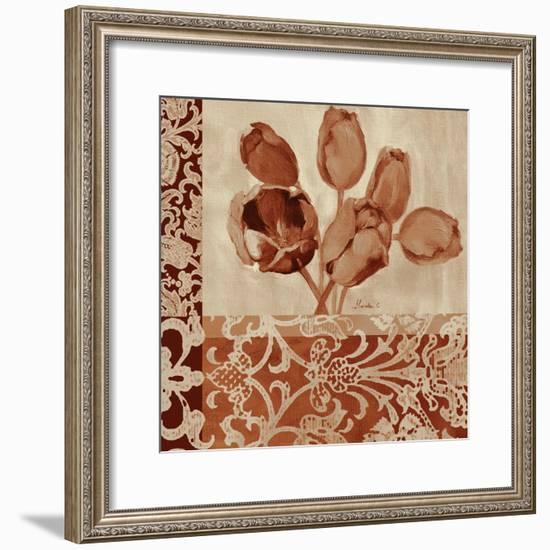 Portret Of Tulips-Marietta Cohen Art and Design-Framed Giclee Print