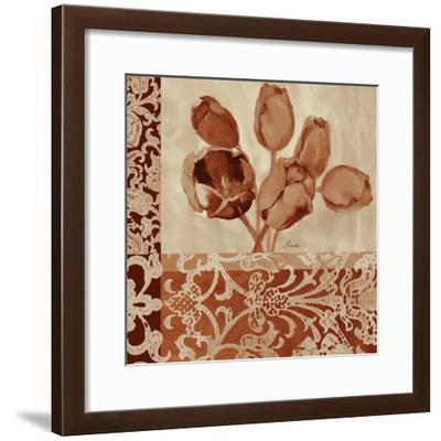 Portret Of Tulips-Marietta Cohen Art and Design-Framed Giclee Print