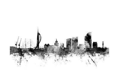 Portsmouth England Skyline-Michael Tompsett-Art Print