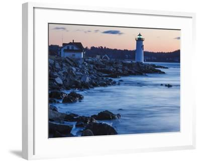 Portsmouth Harbor Lighthouse in New Castle, New Hampshire. Dawn-Jerry & Marcy Monkman-Framed Photographic Print