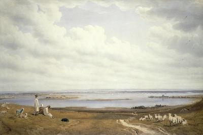 Portsmouth Harbour from Portsdown Hill-J^ M^ W^ Turner-Giclee Print