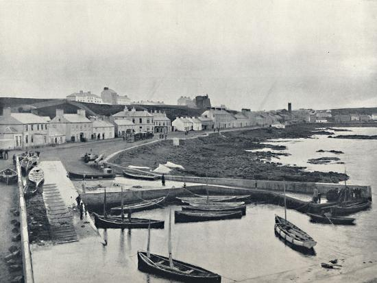 'Portstewart - The Harbour and Town', 1895-Unknown-Photographic Print