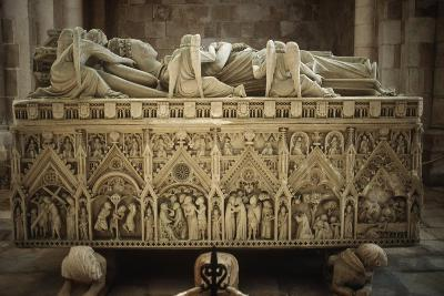 Portugal, Alcobaca, Tomb of Ines De Castro at Cistercian Monastery--Giclee Print