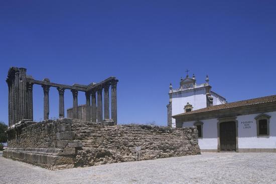Portugal, Alentejo Region, Alto Alentejo, Evora, Roman Temple of Diana--Giclee Print