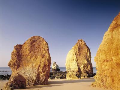 Portugal, Algarve, Praia Da Rocha, Beach, Rock Formations, Sea-Thonig-Photographic Print