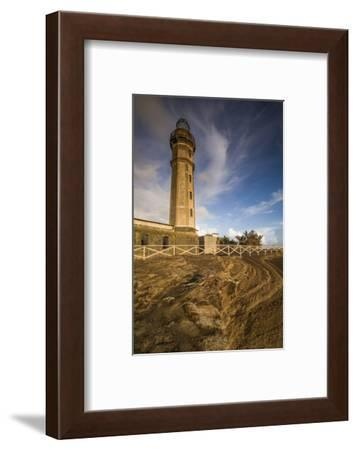 Portugal, Azores, Faial Island. Capelinhos volcanic eruption site and lighthouse-Walter Bibikow-Framed Photographic Print