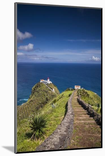 Portugal, Azores, Santa Maria Island, Ponta do Castelo lighthouse-Walter Bibikow-Mounted Photographic Print