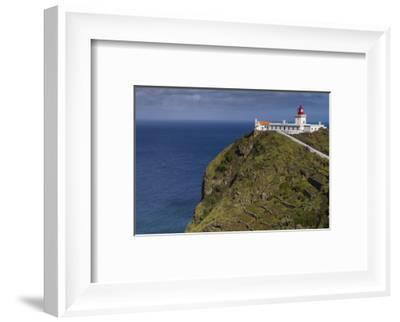 Portugal, Azores, Santa Maria Island, Ponta do Castelo lighthouse-Walter Bibikow-Framed Photographic Print