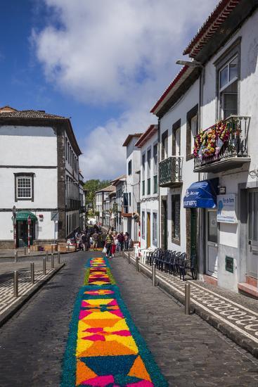 Portugal, Azores, Sao Miguel Island, Ponta Delgada. Festa Santo Christo dos Milagres festival-Walter Bibikow-Photographic Print