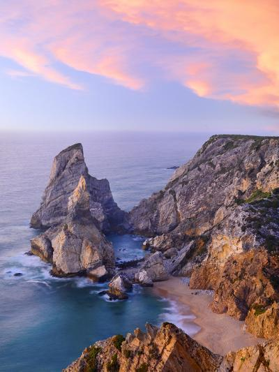 Portugal, Estramadura, Ursa , Seascape at Dusk-Shaun Egan-Photographic Print
