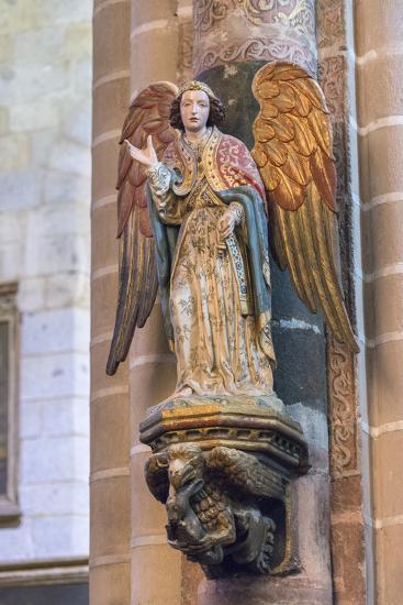 Portugal, Evora, Cathedral of Evora, Angel Statue-Jim Engelbrecht-Photographic Print