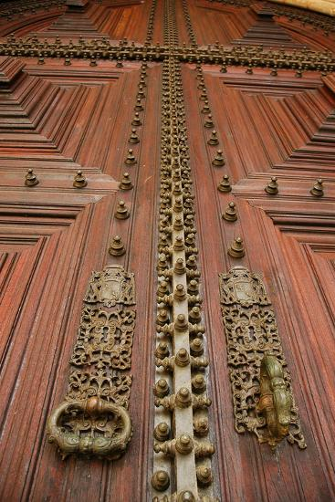 Portugal, Evora, Cathedral of Virgin Mary, Door, Detail--Photographic Print