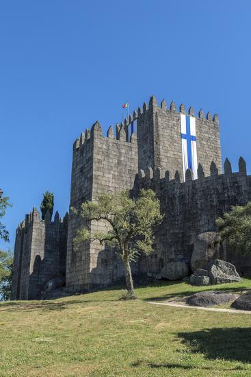Portugal, Guimaraes, Guimaraes Castle-Jim Engelbrecht-Photographic Print