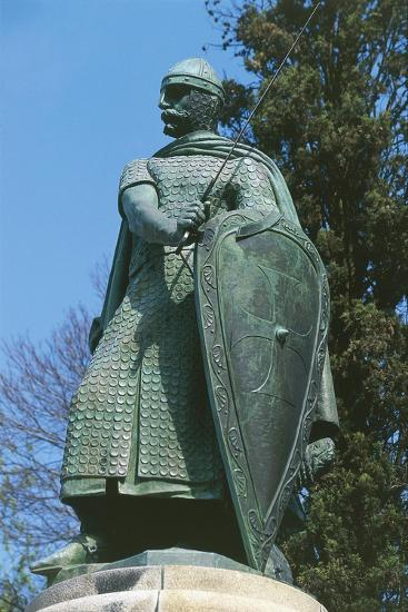 Portugal, Guimarães, Statue of Afonso I Henriques in the Historic Centre, 2001--Giclee Print