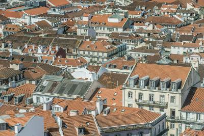 Portugal, Lisbon, Baixa Rooftops from Sao Jorge Castle-Rob Tilley-Photographic Print
