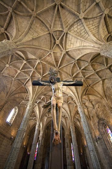 Portugal, Lisbon. Cathedral Inside Jeronimos Monastery-Jaynes Gallery-Photographic Print