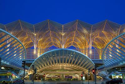 Portugal, Lisbon, Expo Area, Central Railway Station, Dusk-Chris Seba-Photographic Print