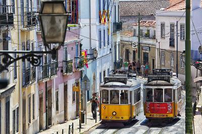 Portugal, Lisbon. Famous Old Lisbon Cable Car-Terry Eggers-Photographic Print