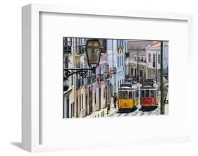 Portugal, Lisbon. Famous Old Lisbon Cable Car-Terry Eggers-Framed Photographic Print