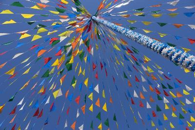 Portugal, Minho Province, Braga. Multicolored Flags Decorating Places of Public Gatherings-Emily Wilson-Photographic Print