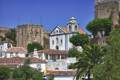Portugal, Obidos, Elevated View of the Town with the Red Roofs-Terry Eggers-Photographic Print