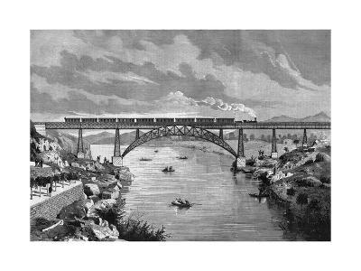 Portugal, Oporto Bridge-DL Fernandez-Giclee Print