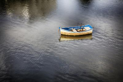 Portugal, Tavira, Lone Boat at Anchor in Bay-Terry Eggers-Photographic Print