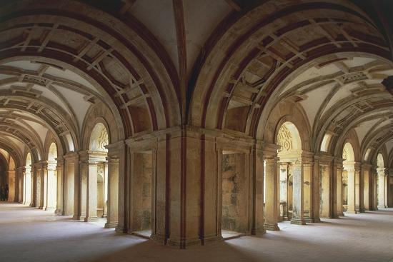 Portugal, Tomar, Cloister at Convent of Christ, UNESCO World Heritage List, 1983--Giclee Print