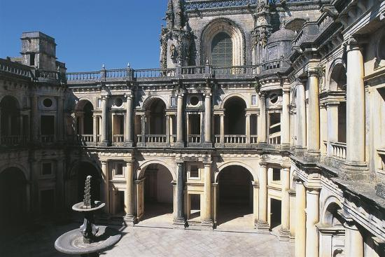 Portugal, Tomar, Convent of Order of Christ, Cloister--Giclee Print